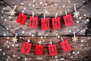Christmas 'thank you'