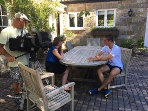 Tom being interviewed for the ITV Meridian news today.
