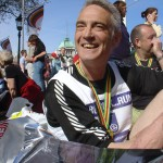 MEA trustee Rick Osman after completing the London Marathon