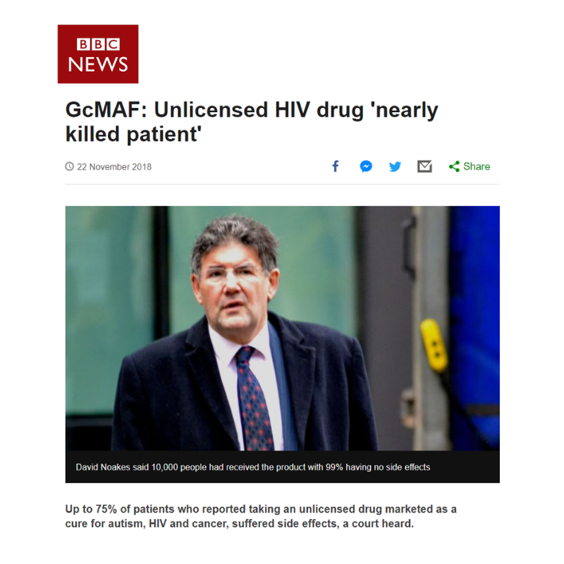 GcMAF/First Immune 'is very speculative and comes with serious