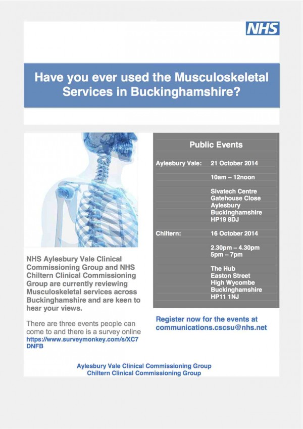 Musculoskeletal services in Bucks