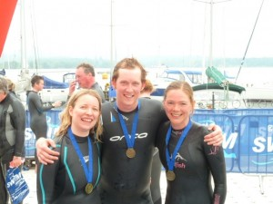Lee and Charlotte, with their friend Ayliffe.
