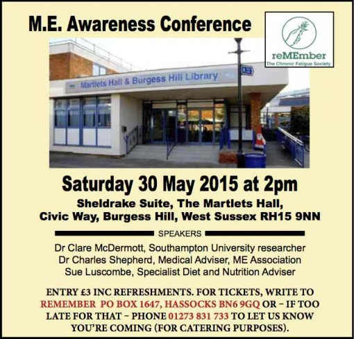 M E  Awareness conference in Burgess Hill, West Sussex | 30